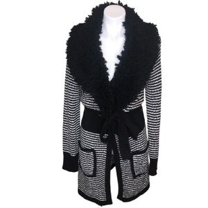 Romeo & Juliet Couture Faux Fur Cardigan Jacket